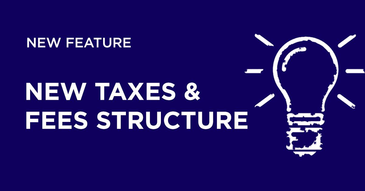 Cấu Trúc Thuế & Phí Mới | Hotel Link System