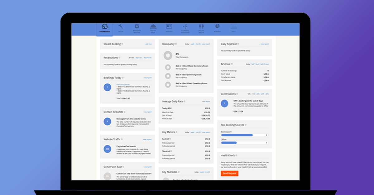 Hotel Link Extranet   New Dashboard
